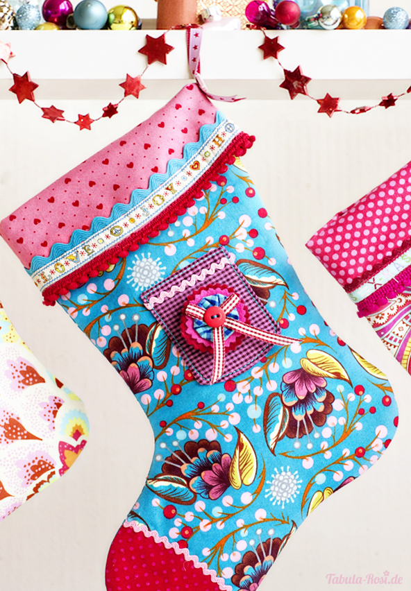 christmas stocking, fabric