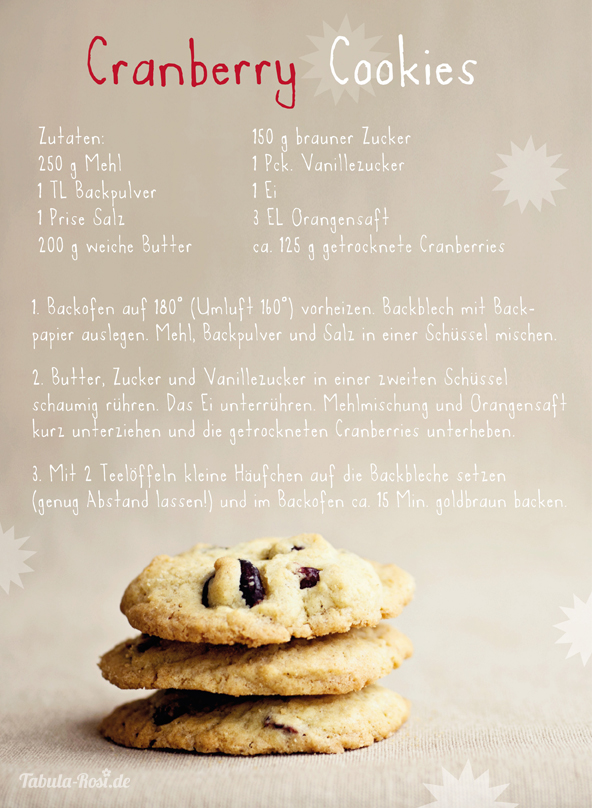 cranberry-cookies rezept