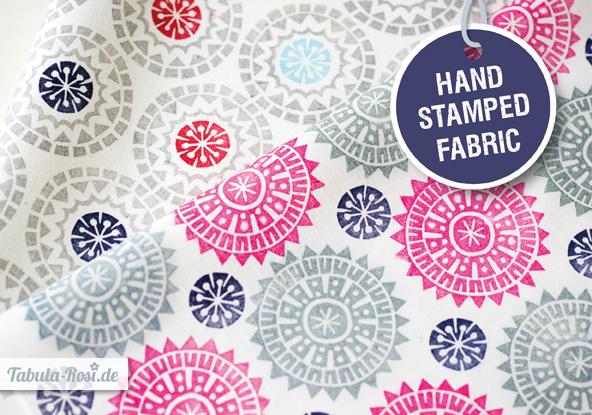 handstamped fabric