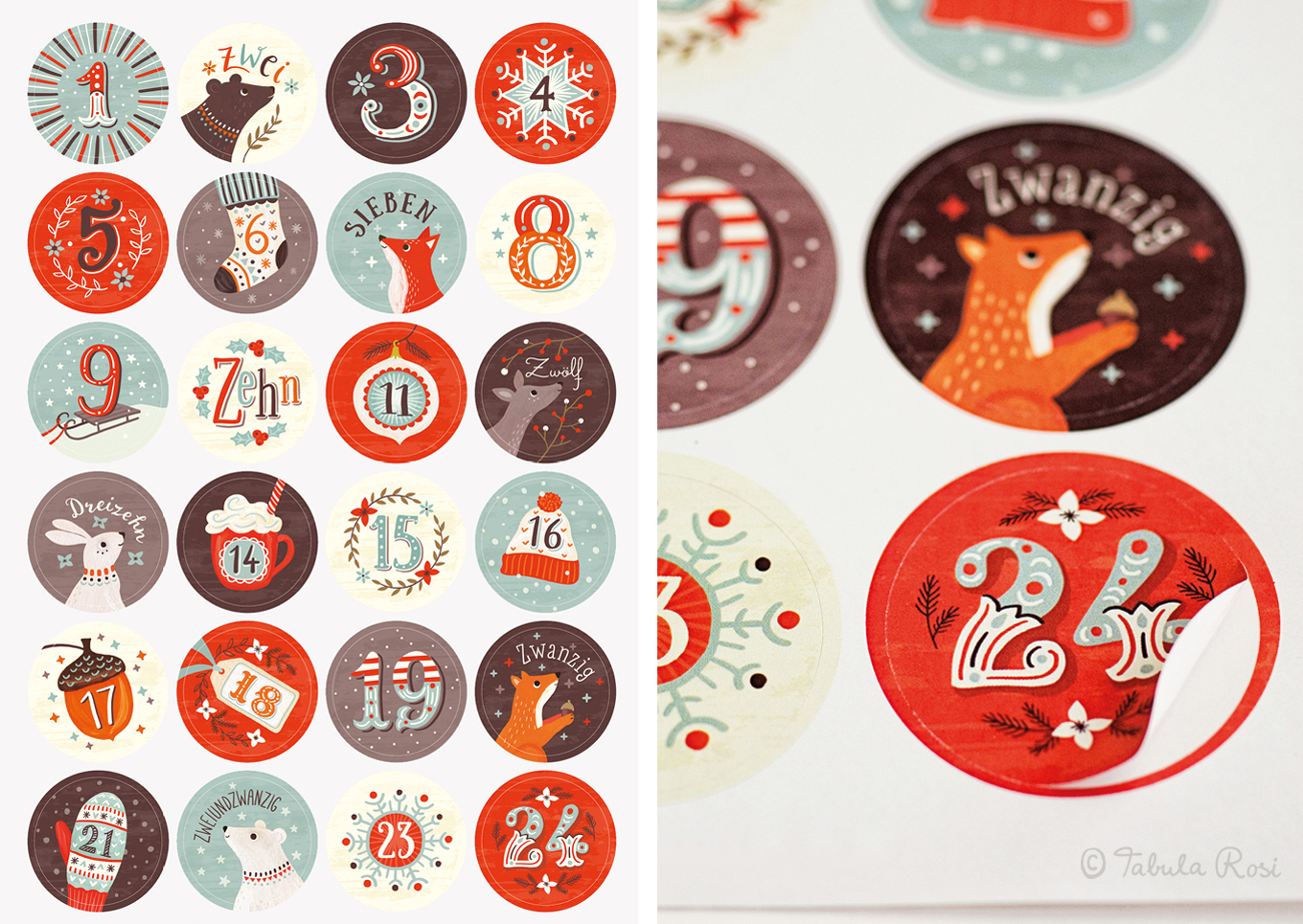Adventskalender-Sticker